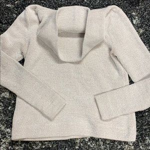 cotton polyester blend turtle neck sweater